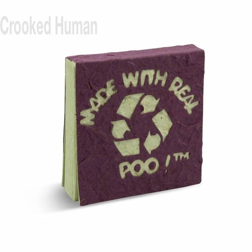 "PooPooPaper™ ""Made With Real Poo"" Scratch Pad"