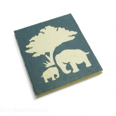 "PooPooPaper™ ""Elephant Mom and Baby"" Journal"