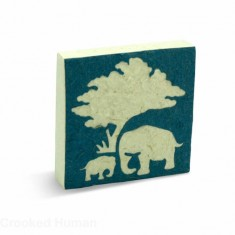 "PooPooPaper™ ""Elephant Mom and Baby"" Scratch Pad"